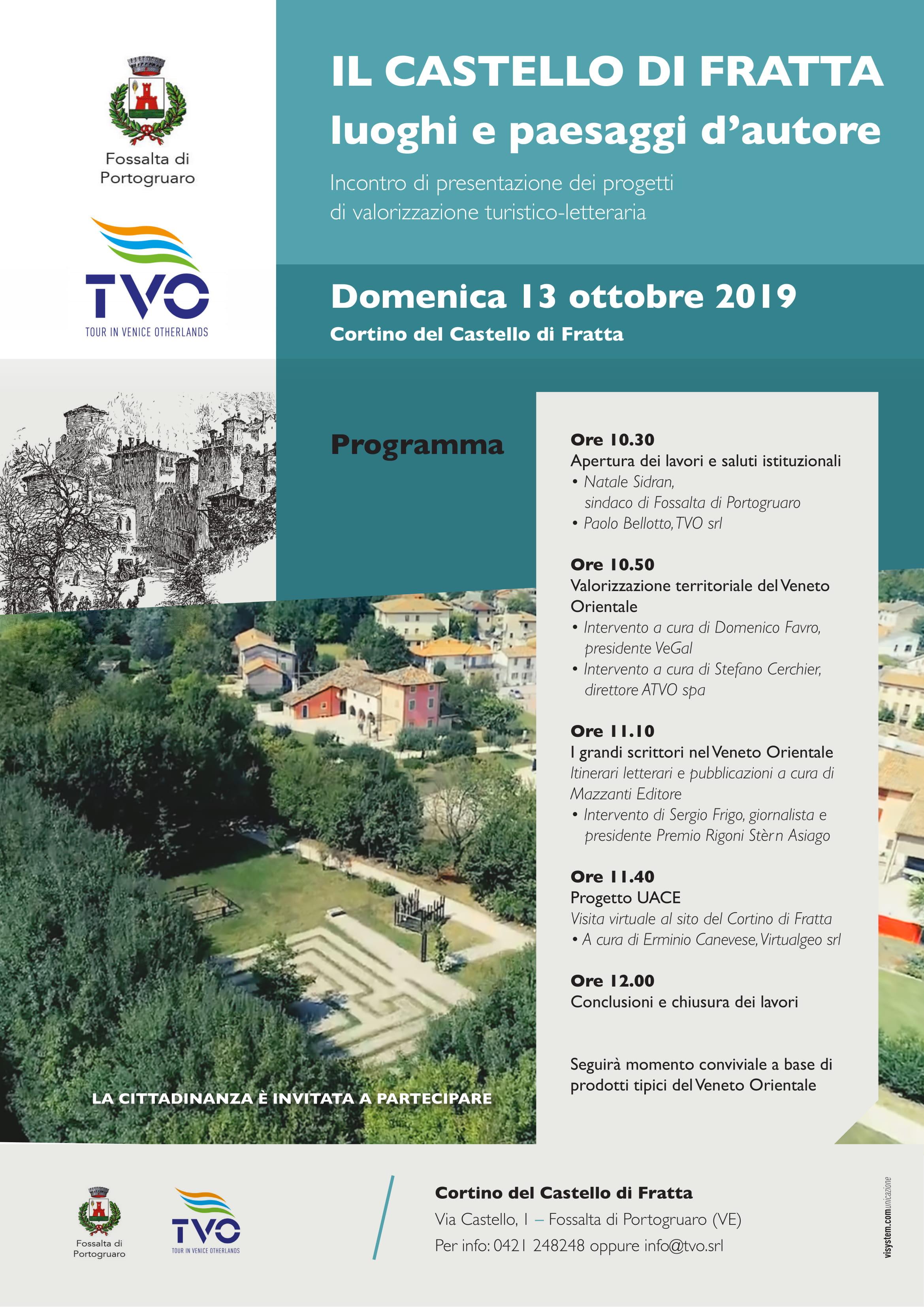 Nuove iniziative di valorizzazione turistica del Veneto Orientale al Cortino di Fratta